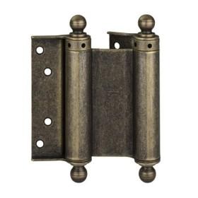 Дверная петля пружинная (барная) с пешкой ALDEGHI 126x42x48 античная бронза