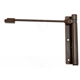 Доводчик дверной пружинный до 60кг Aldeghi Геркулес 170x39 коричневый
