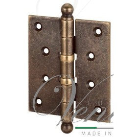 Петля дверная с декоративным колпачком ALDEGHI 102x76x3 матовая бронза