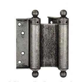 Дверная петля пружинная (барная) двухсторонняя с пешкой ALDEGHI 75x28x34 античное серебро