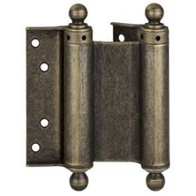 Дверная петля пружинная (барная) двухсторонняя с пешкой ALDEGHI 75x28x34 античная бронза