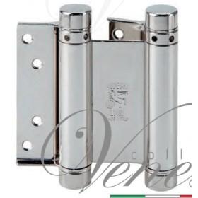 Дверная петля пружинная (барная) двухсторонняя ALDEGHI 125x42x48 никель