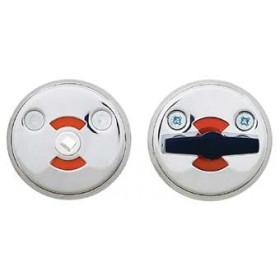 Поворотная кнопка для туалетных кабин Abloy 0350 Fe/MCR матовый хром