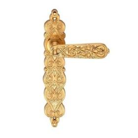 Дверная ручка на планке Archie Genesis Arabesco Матовое золото проходная