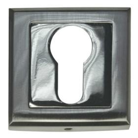 Накладка квадратная под евроцилиндр Bussare B0-30 S.CHROME