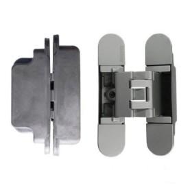 KUBICA 3000 DXSX, NS петля скрытая универсальная для дверей с притвором до 10мм МАТ. НИКЕЛЬ (60 кг)