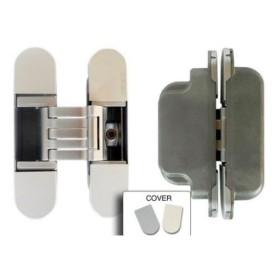 KUBICA 6300 CR.SAT петля скрытая универсальная асимметричная для дверей с притвором, цвет МАТОВЫЙ ХРОМ (60 kg)