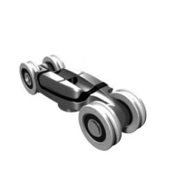 Комплект роликов Koblenz для 2-ух раздвижных полотен, телескопический до 80/120 кг (0560/21)