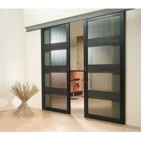Комплект Koblenz для 2х раздвижных дверей до 80кг/1 полотно (трек 3м) (500)