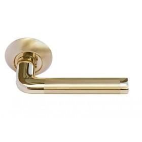Межкомнатная дверная ручка Morelli Колонна DIY MH-03 SG/GP Золото матовое/Золото