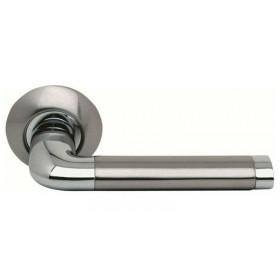 Межкомнатная дверная ручка Morelli Колонна DIY MH-03 SN/CP Никель белый/Хром