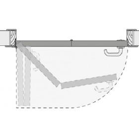 Система КНИЖКА для межкомнатных дверей MORELLI 90-TWICE LEFT 60 Механизм компакт (COMPACK)