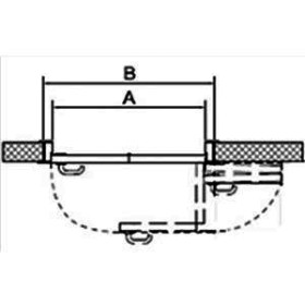 СИСТЕМА КНИЖКА для межкомнатных дверей MORELLI 180-TWICE RIGHT 70 Механизм компакт (COMPACK)