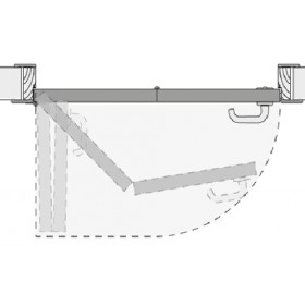 Система КНИЖКА для межкомнатных дверей MORELLI 90-TWICE LEFT 80 Механизм компакт (COMPACK)