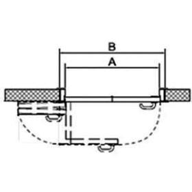 СИСТЕМА КНИЖКА для межкомнатных дверей MORELLI 180-TWICE LEFT 70 Механизм компакт (COMPACK)