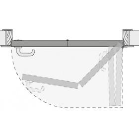 Система КНИЖКА для межкомнатных дверей MORELLI 90-TWICE RIGHT 60 Механизм компакт (COMPACK)