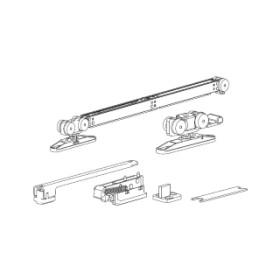 Раздвижной механизм для дверей с одним доводчиком весом до 40 кг. Morelli SLIDING SET 2 (Комплект)
