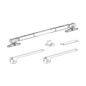 Раздвижной механизм для дверей с двумя доводчиками весом до 40 кг. Morelli SLIDING SET 3 (Комплект)