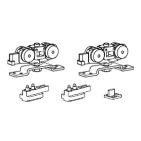 Комплект раздвижных механизмов для двери весом до 60 кг. Morelli SLIDING SET 1