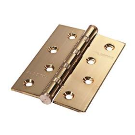 Дверная петля универсальная Palidore латунная 100*70*2,5 4ВВ РВ PALIDORE полированное золото