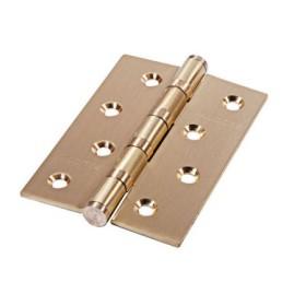 Дверная петля универсальная Palidore латунная 100*70*2,5 4ВВ SВ PALIDORE матовое золото
