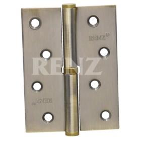 Петля стальная разъемная RENZ 100*75*2,5, левая, плоск. колп., бронза античная