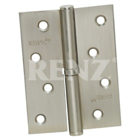 Петля стальная разъемная RENZ 100*75*2,5, левая, плоск. колп., никель матовый