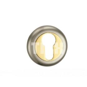 Накладка на цилиндр TIXX, никель матовый/латунь блестящая