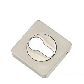 Накладка квадратная на цилиндр TIXX, никель матовый/никель блестящий