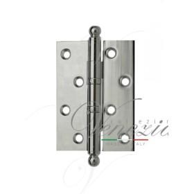 Дверная петля универсальная латунная с круглым колпачком Venezia CRS010 102x76x3 полированный хром