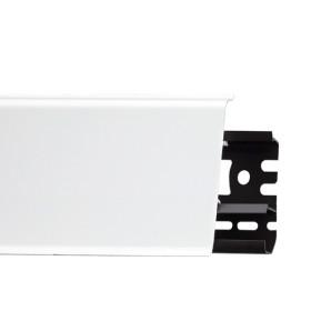 Плинтус пластиковый (ПВХ) Arbiton INDO 01 Белый блеск 2500 х 70 х 26 мм, монтажная планка в комплекте