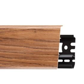 Плинтус пластиковый (ПВХ) Arbiton INDO 13 Орех Рубра 2500 х 70 х 26 мм, монтажная планка в комплекте