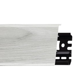 Плинтус пластиковый (ПВХ) Arbiton INDO 19 Дуб Онтарио 2500 х 70 х 26 мм, монтажная планка в комплекте