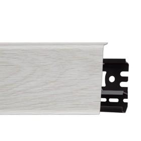 Плинтус пластиковый (ПВХ) Arbiton INDO 25 Каштан Жирона 2500 х 70 х 26 мм, монтажная планка в комплекте