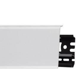Плинтус пластиковый (ПВХ) Arbiton INDO 40 Белый Мат 2500 х 70 х 26 мм, монтажная планка в комплекте
