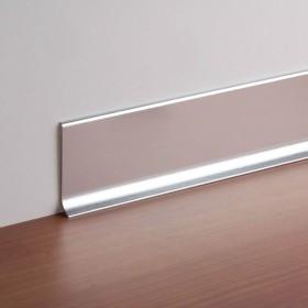 Плинтус алюминиевый анодированный Cezar LP59 с кабель-каналом 59мм Польша