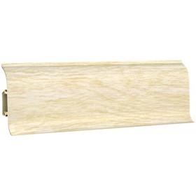 Пластиковый плинтус Декопласт 60 полуматовый 60х25х2500мм 6051 дуб светлый