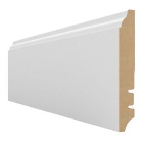 Плинтус МДФ Hannahholz (16х100х2400мм) KW100301 Белый матовый RAL9003 (можно перекрасить)