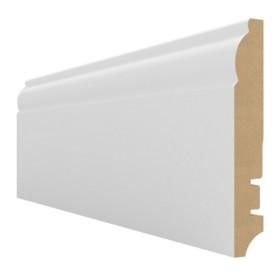 Плинтус МДФ Hannahholz (16х100х2400мм) KW100305 Белый матовый RAL9003 (можно перекрасить)