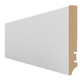 Плинтус МДФ Hannahholz (16х100х2400мм) AW100401 Белый матовый RAL9003 (можно перекрасить)