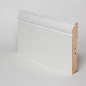 Плинтус МДФ Hannahholz (16х120х2400мм) KW120306 Белый матовый RAL9003 (можно перекрасить)