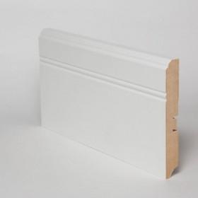 Плинтус МДФ Hannahholz (16х120х2400мм) KW120307 Белый матовый RAL9003 (можно перекрасить)