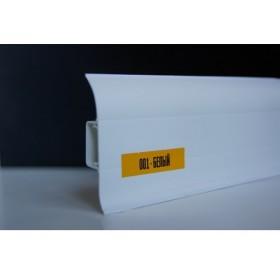 Пластиковый плинтус Идеал комфорт 55х22х2500 с кабель-каналом 001 Белый