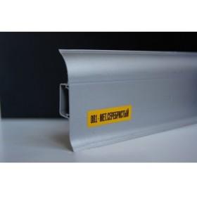 Пластиковый плинтус Идеал комфорт 55х22х2500 с кабель-каналом 081 металлик