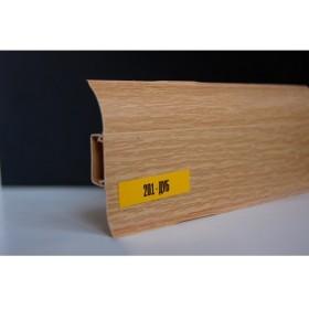 Пластиковый плинтус Идеал комфорт 55х22х2500 с кабель-каналом 201 Дуб