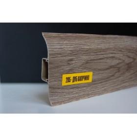 Пластиковый плинтус Идеал комфорт 55х22х2500 с кабель-каналом 205 Дуб Капучино