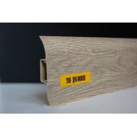 Пластиковый плинтус Идеал комфорт 55х22х2500 с кабель-каналом 208 Дуб Мокко