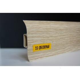 Пластиковый плинтус Идеал комфорт 55х22х2500 с кабель-каналом 213 Дуб северный