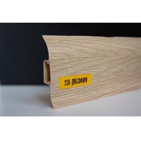 Пластиковый плинтус Идеал комфорт 55х22х2500 с кабель-каналом 216 Дуб Сафари