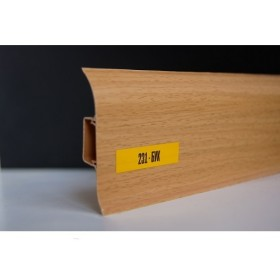 Пластиковый плинтус Идеал комфорт 55х22х2500 с кабель-каналом 231 Бук
